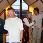 laughter handshakes at mandas findhorn club