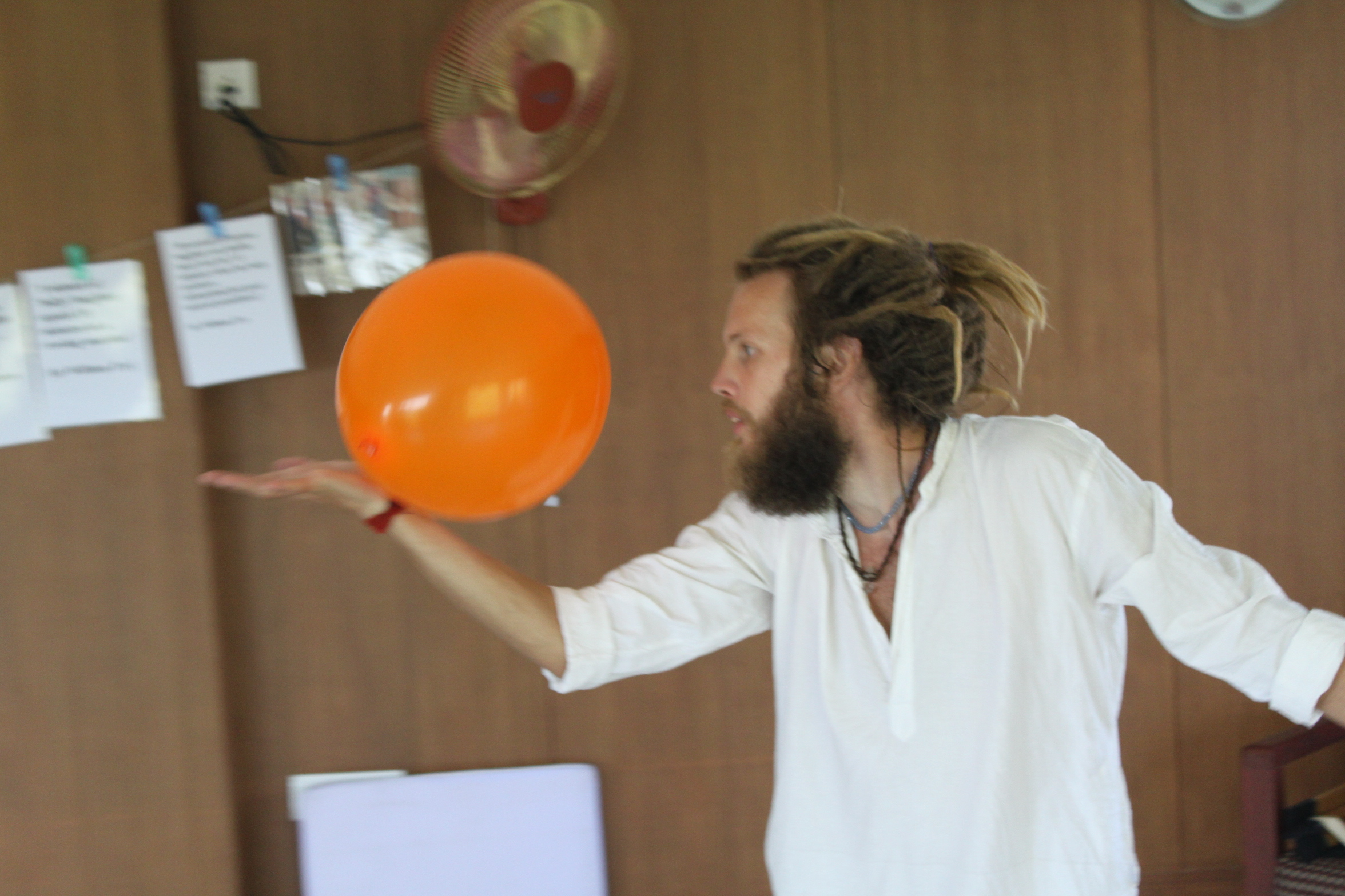 Laughter Yoga balloon play in India